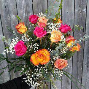 12 Roses Bouquet Couleur