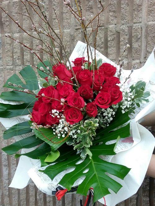 Bouquet 24 Roses Rouges