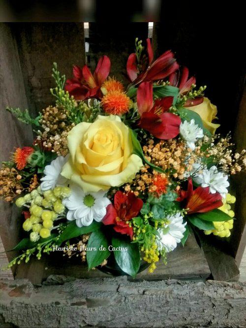 couleurs fraîches de citron avec fleurs de saisons