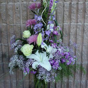 composition florale lavande période estivale